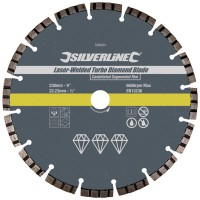Silverline Laser Welded Turbo Rim Diamond Blade 230mm x 22mm