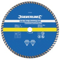 Silverline Turbo Wave Diamond Cutting Blade 230mm x 22mm
