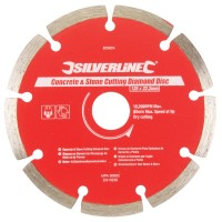 Silverline Diamond Blade Stone Concrete Cutting 125mm x 22mm
