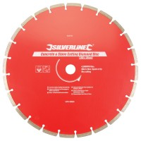Silverline Diamond Blade Stone Concrete Cutting 350mm x 25mm