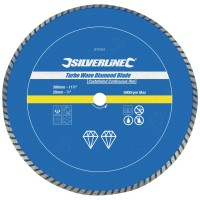 Silverline Turbo Wave Diamond Cutting Blade 300mm x 20mm