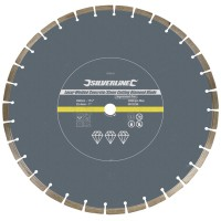 Silverline Laser Welded Diamond Cutting Blade 450mm x 25.4mm