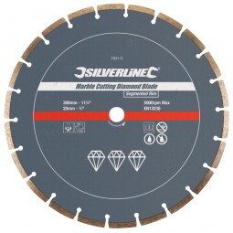 Silverline Marble Diamond Cutting Blade Disc 300mm x 20mm