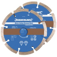 Silverline Mortar Raking Diamond Disc 115mm - 2 Pack