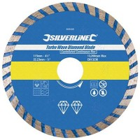 Silverline Turbo Wave Diamond Cutting Blade 115mm x 22mm