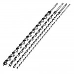 Silverline Long Auger Drill Bit Set 600mm - 4 Piece