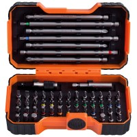 Bahco Driver Bits 54 Piece Set - Slotted Phillips Pozi Hex Robertson Torx