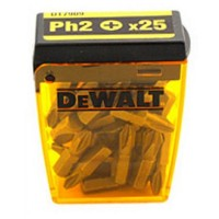 DeWalt PH2 25mm Screwdriver Drill Driver Bit Box - 25 Pack