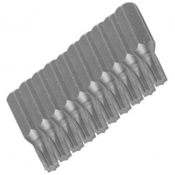 Silverline Torx Driver Bits 25mm T5 - 10 Pack