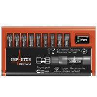 Wera Impaktor Bit Check Pozi and Torx Set - 9 Piece