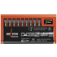 Wera Impaktor Bit Check Pozi Set - 9 Piece