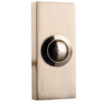 Byron 2204BN Wired Push Button Door Bell - Nickel
