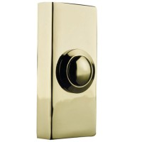 Byron 2204 Wired Push Button Door Bell - Brass