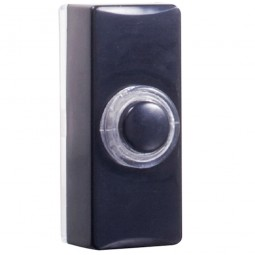 Byron 7720 Blaze Door Bell Push - Black