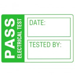 Martindale LAB1 Pat Testing Pass Labels Small 30mm x 20mm - 500