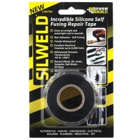 Everbuild Silweld Silicone Repair Tape Black - 3 Metres