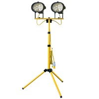 Faithfull Halogen 500W Twin Adjustable Site and Security Light - 240V