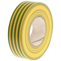 Faithfull PVC Electrical Insulation Tape Green/Yellow 19mm x 20m