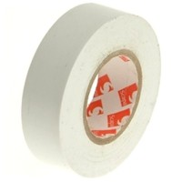 Faithfull PVC Electrical Insulation Tape White 19mm x 20m