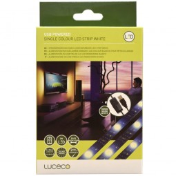 Luceco USB Powered Single Colour White Light LED Strip 50cm