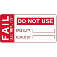 Martindale FAIL1 Pat Testing Fail Labels Large 60mm x 30mm - 100