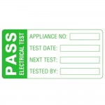 Martindale LAB2 Pat Testing Pass Labels Large 60mm x 30mm - 500