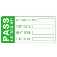 Martindale MS1 Pat Testing Pass Labels Mark and Seal 60mm x 30mm - 500