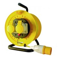 Silverline Extension Cable Reel 110v - 25 Metres