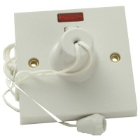 SMJ Ceiling Switch and Neon Double Pole 45amp