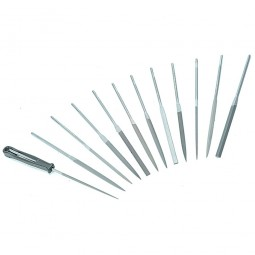 Bahco Needle File 12 Piece Set Smooth Cut with Handle - 160mm