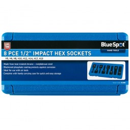 "BlueSpot 1/2"" Impact Hex Socket Set - 8 Piece"
