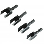 Faithfull Plug Cutter Set - 4 Piece