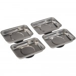 Silverline Magnetic Parts Tray 90mm x 65mm - 4 Pack
