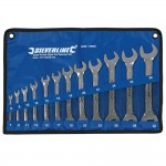 Silverline Open Ended Spanner Set 6mm - 32mm - 12 Piece