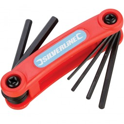 Silverline Metric Hex Key Set 1.5mm - 6mm - 7 Piece
