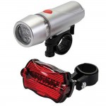 Silverline Bike Front and Rear LED Lights