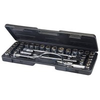Silverline Metric and AF Socket Wrench Set 1/2 Drive - 42 Piece