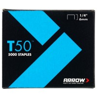 Arrow T50 and T55 Staples 6mm - 5000 Pack