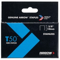 Arrow T50 and T55 Stainless Steel Staples 10mm - 1000 Pack
