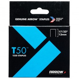 Arrow T50 and T55 Ceiling Tile Staples 13mm - 1250 Pack