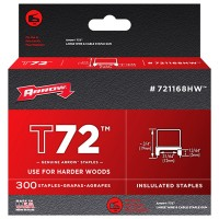 Arrow T72 Insulated Cable Staples Clear 12mm x 5mm - 300 Pack