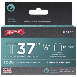 Arrow T37 Cable Wiring Staples Crown Divergent Point 12mm - 5000 Pack