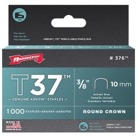 Arrow T37 Cable Wiring Staples Crown Divergent Point 10mm - 5000 Pack