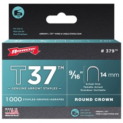 Arrow T37 Cable Wiring Staples Crown Divergent Point 14mm - 5000 Pack