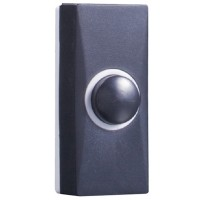 Byron 7900 Cent Door Bell Push - Black