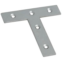Forge Tee Plates 76mm Zinc Plated Finish - Pack of 10