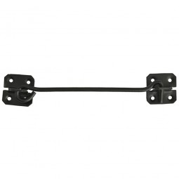 Forge Black Cabin Hook with Powder Coated Finish