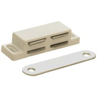 Forge Magnetic Catch Plastic - White Pack of 2
