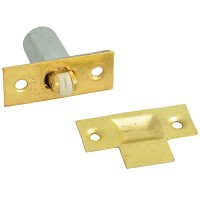 Forge Adjustable Roller Catch with Brass Finish Pack of 2