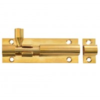 Forge Door Bolt with Brass Finish 75mm
